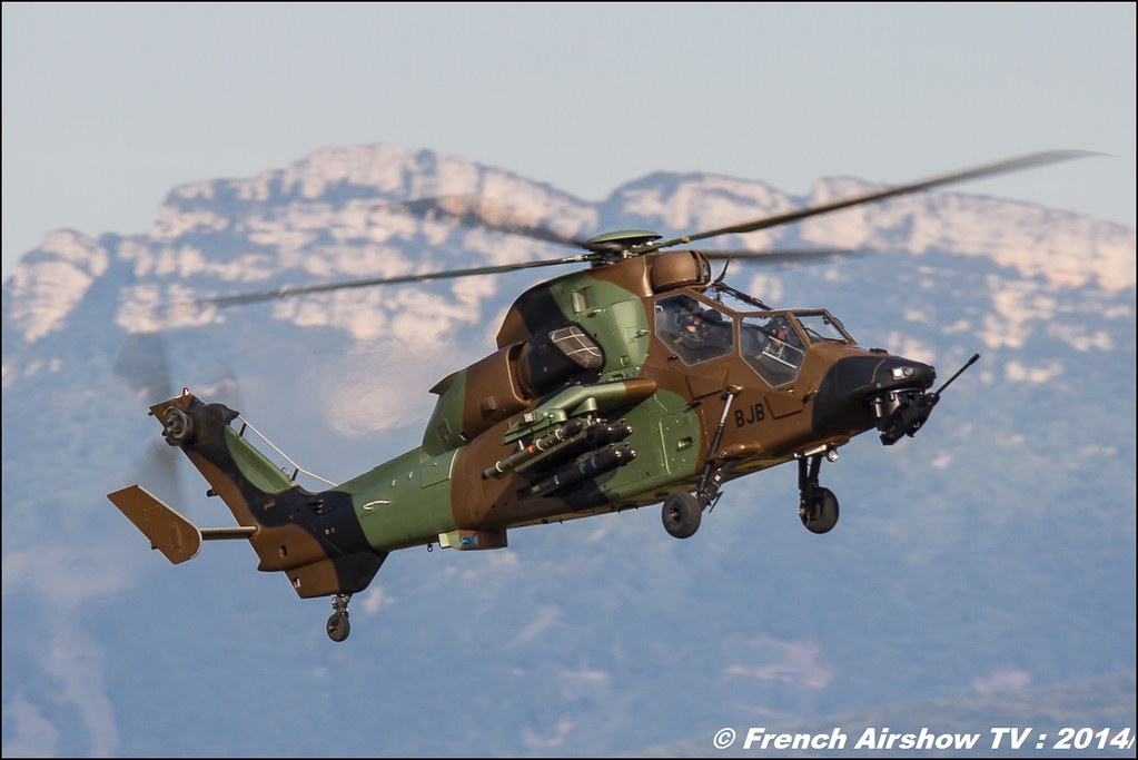 Tigre EC-665 HAD Airbus helicopter, 60 ans ,ALAT, JPO Gamstat Valence Chabeuil 2014