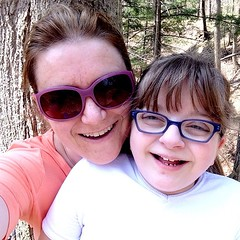 #mmmay15 #memademay15 3: Ottobre tshirt on frances, renfrew on me. First mother daughter hike of the spring!