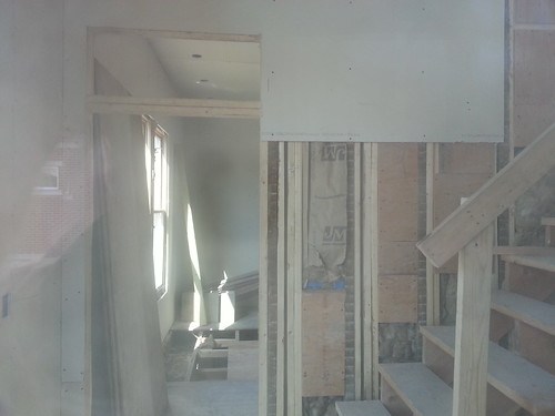 New framing and staircase near front