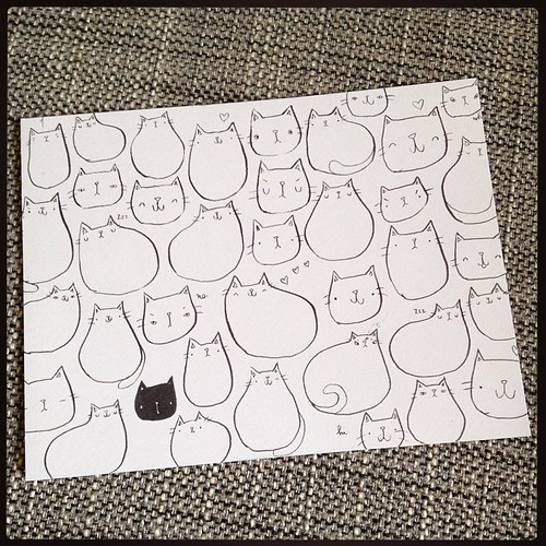 Other new thing that arrived this week: #cat postcards! #migrationgoods #illustration #drawing #stationery