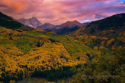 sunset mountain colorado peak capitol aspen
