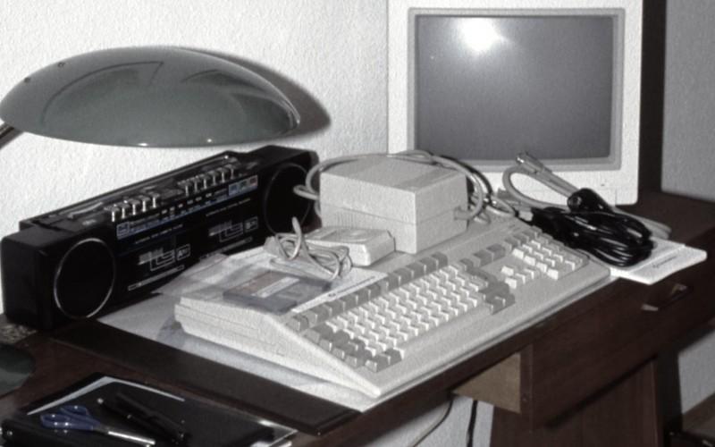 Amiga 500 and Commodore 1084S Monitor