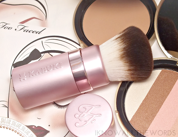 too faced kabuki brush. too faced 044 the ultimate bronzer wardrobe (8) kabuki brush p