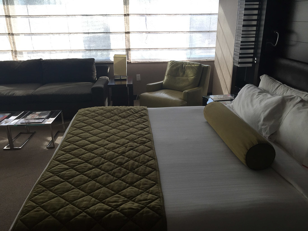Bed and chair at Vdara