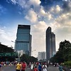 Two big towers in #Sudirman #carfreeday #jakarta #phaseui80 #phase80 #sky #cloud #sports #jogging #health