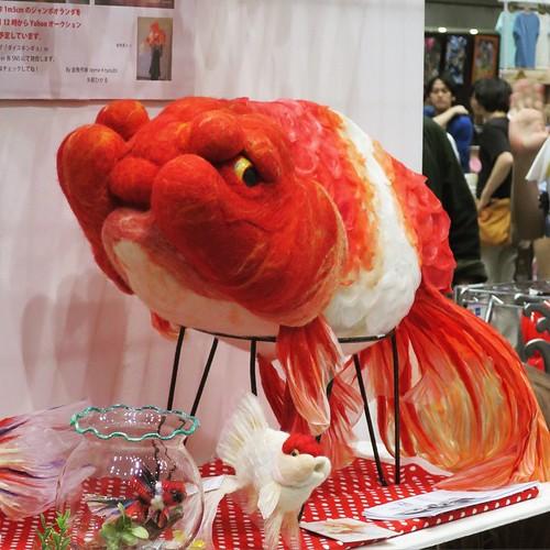 この金魚は、インパクトでかかった。