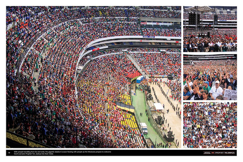 With people travelling from far and wide, the gigantic stadium is soon flowing with people as the Mexicans prepare to welcome God's servant, Prophet T.B. Joshua into their midst.