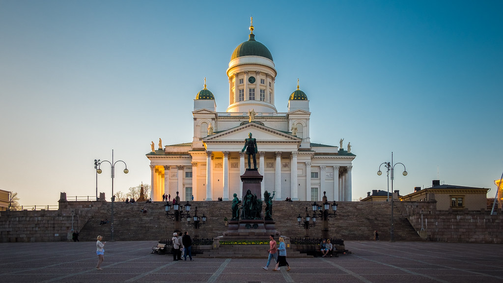 The Cathedral at sunset, Helsinki, FInland picture
