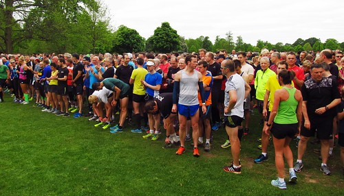 parkrunners ready to go on Lime Avenue