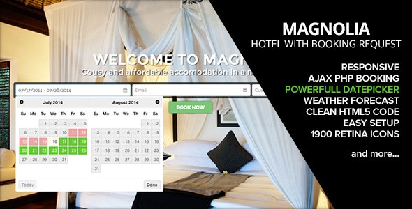 HOTEL MAGNOLIA v1.4 with Booking request