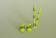 :: Bamboo post earrings