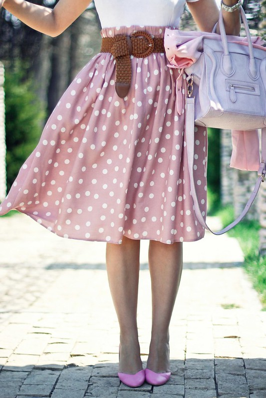 polka dots skirt2