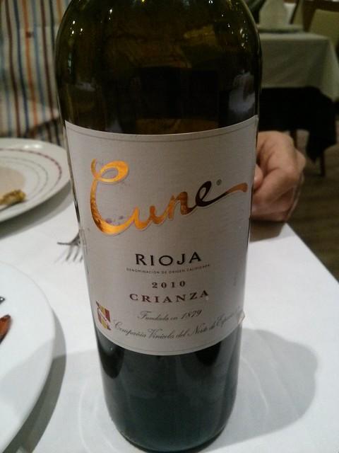 Madrid | Restaurante Min | Crianza Cune Rioja