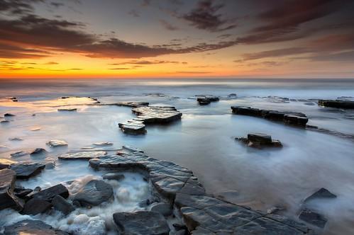 light seascape sunrise australia