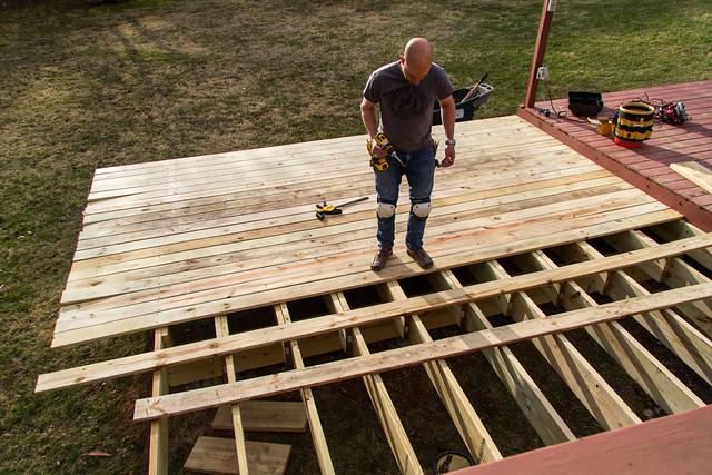Deck building...with kneepads