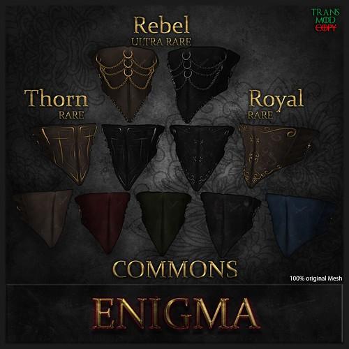 _ENIGMA_ Duelist Masks colors