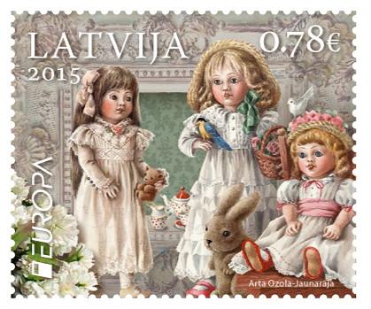 """Pastmarka """"Eiropa - senās rotaļlietas"""""""