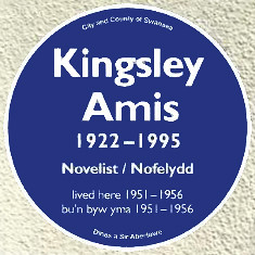 Photo of Kingsley Amis blue plaque