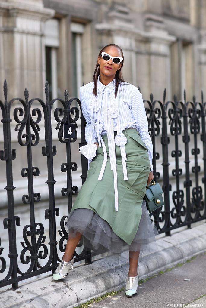 Michelle Elie at Paris Fashion Week
