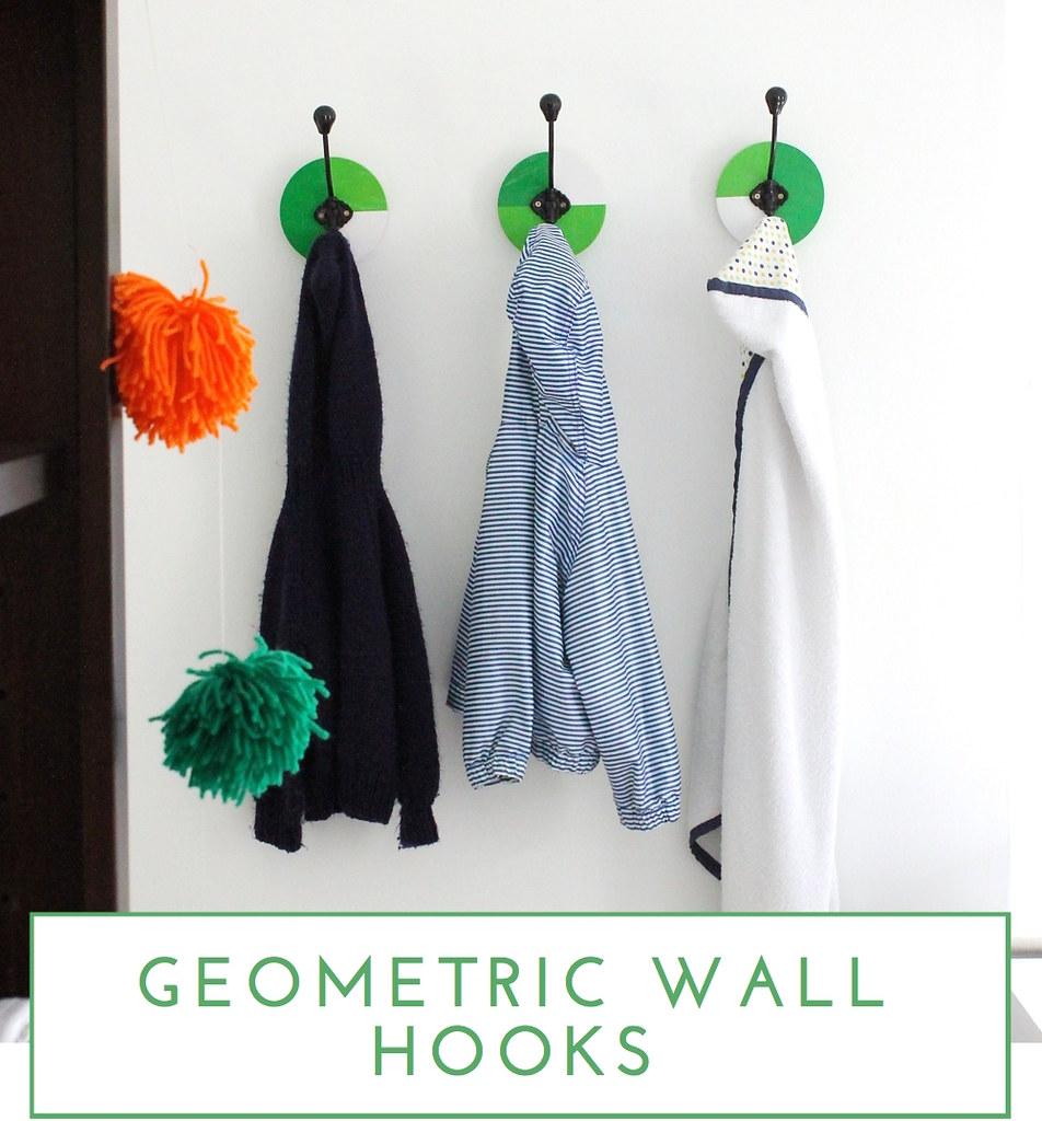 Geometric Wall Hooks - The Homes I Have Made