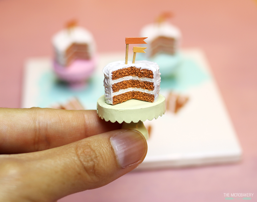 The Micro Bakery polymer clay carrot cake3