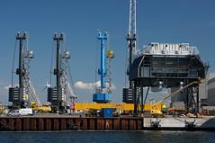 crane vessel (floating)(0.0), freight transport(0.0), petroleum(0.0), drilling rig(0.0), jackup rig(0.0), offshore drilling(0.0), oil rig(0.0), port(1.0), vehicle(1.0), transport(1.0), industry(1.0), construction equipment(1.0),