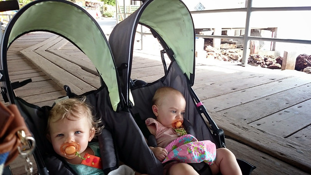 Twins on Taboga dock