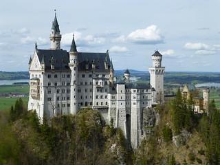 Neuschwanstein, Hohenschwangau, Castle, Bavaria, Ludwig II, King