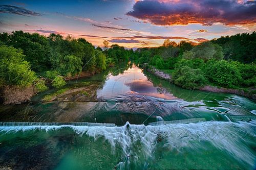 sunset nature nikon hellas greece rivers d750 hdr nomi waterscapes trikala thessaly nikkor1424 peflections
