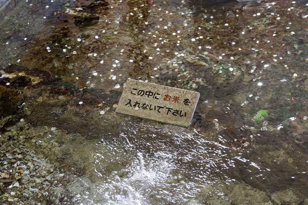 この中にお米を入れないで下さいと書いてある注意文