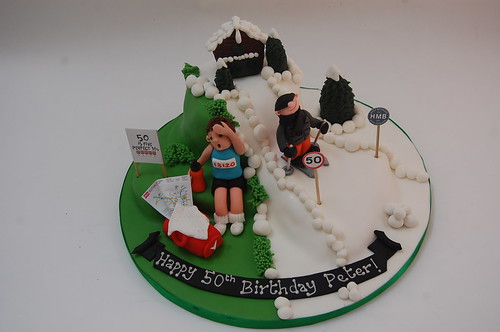 Skiing and Running Cake Beautiful Birthday Cakes