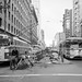 Traffic Around Construction of Passenger Loading Island on Market Street | December 7, 1966 | X9891_1 by SFMTA Photo Archive