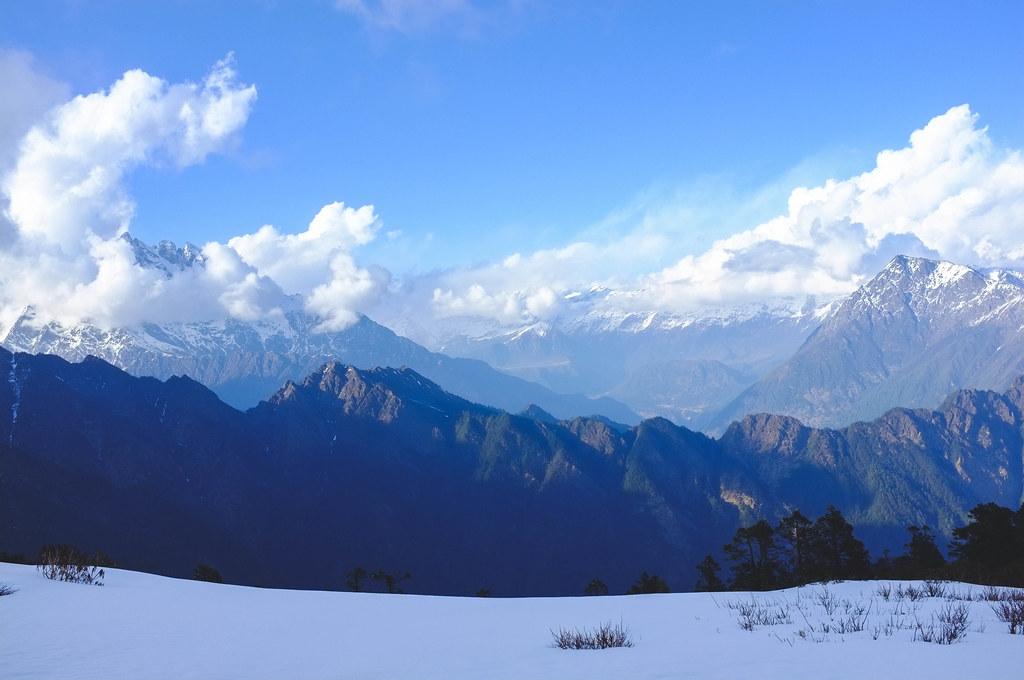 View of Tibet, Nagthali, Tamang Heritage Trail, Nepal