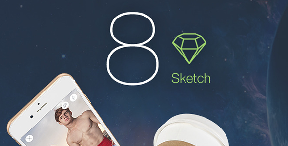 8 Color – Sketch Mobile UI Kit