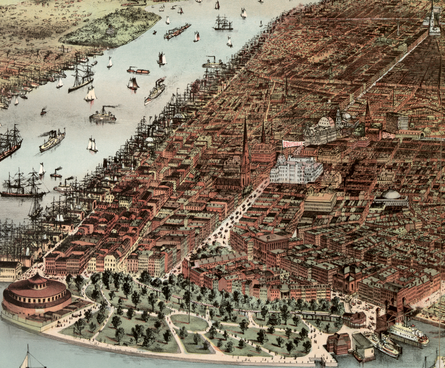 1883 battery detail of City of New York