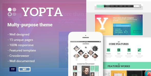 Yopta v1.3 - Multi-Purpose WordPress Theme