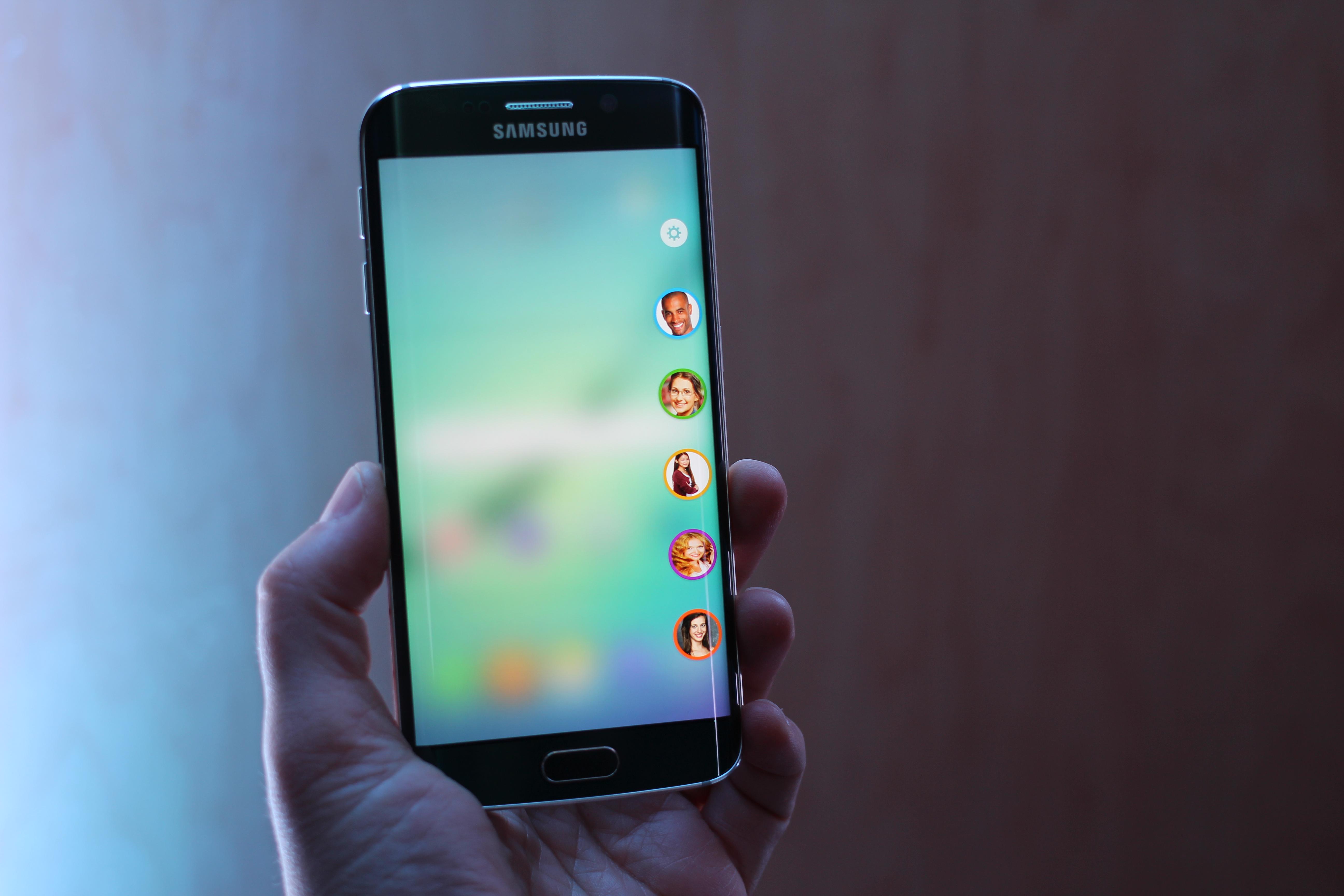 Hand Holding Samsung Galaxy