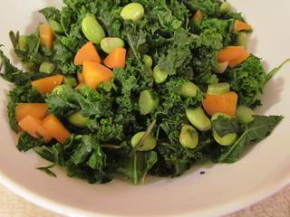 Mediterranean-Style Kale, Carrot, and Edamame Saute