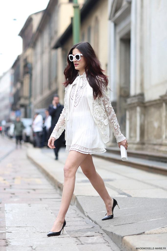 Eleonora Carisi at Milan Fashion Week
