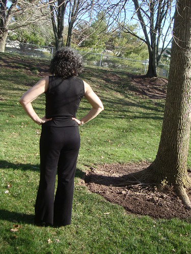 Simplicity 1283 View C Mimi G pants in black ponte