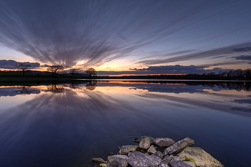 sunset water clouds reflections landscape scotland scenery stunning loch hdr dumfries dumfriesgalloway lochmaben dumfriesshire southwestscotland