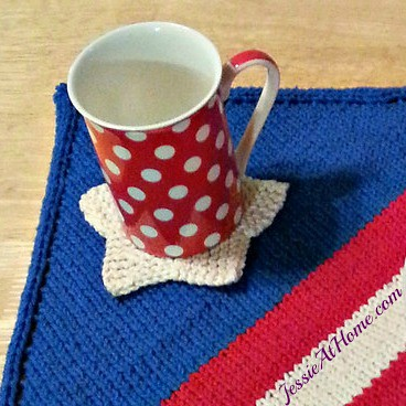 Stitchopedia-Free-Knit-Pattern-Entrelac-Star-Coaster-by-Jessie-At-Home