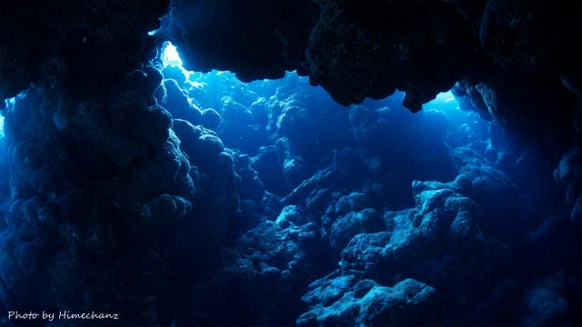 洞窟の光!