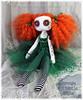 Custom button eyed cloth art doll
