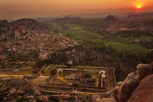 world morning trees mountains heritage history colors fog architecture clouds sunrise canon landscape temple site culture hills adventure boulders greenery hampi 600d vijayanagara achyutaraya
