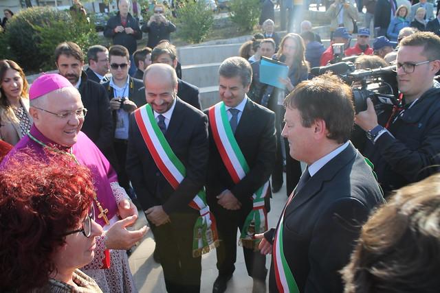 Il sindaco Romagno all'accoglienza
