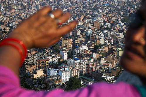 city travel nepal panorama cityscape view kathamandu