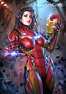 如果漫威超級英雄們都是性感美女會是什麼模樣? Fan art by NeoArtCore.