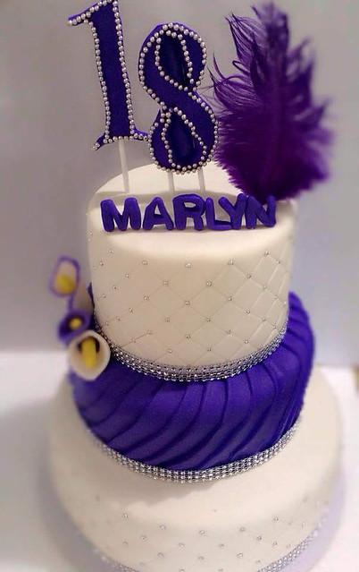 Purple Cake (18th Birthday Cake) Marilyn Magdasoc Cake Decorator