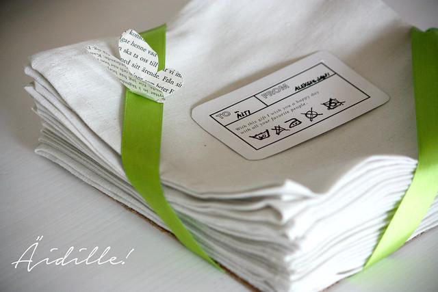 Äitienpäivälahja itse tehdyt lautasliinat Kaikki Paketissa